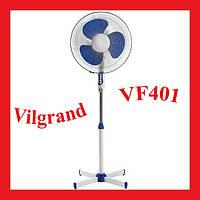 Напольный вентилятор ViLgrand VF401 (40 см диаметр) голубой
