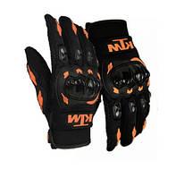 Защитные мото перчатки с костяшками Ktm для мотокросса эндуро  мотоперчатки, фото 3