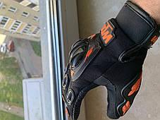 Защитные мото перчатки с костяшками Ktm для мотокросса эндуро  мотоперчатки, фото 2