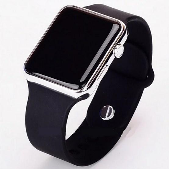 LED Watch, часы молодежные светодиодные цифровые унисекс. Silver.