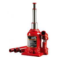 Гидравлический домкрат низкопрофильный 2т 150-370 мм бутылочного типа двухштоковый TORIN TF0202