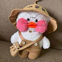 Мягкая игрушка лалафанфан утка подарок для детей и взрослых антитстресс