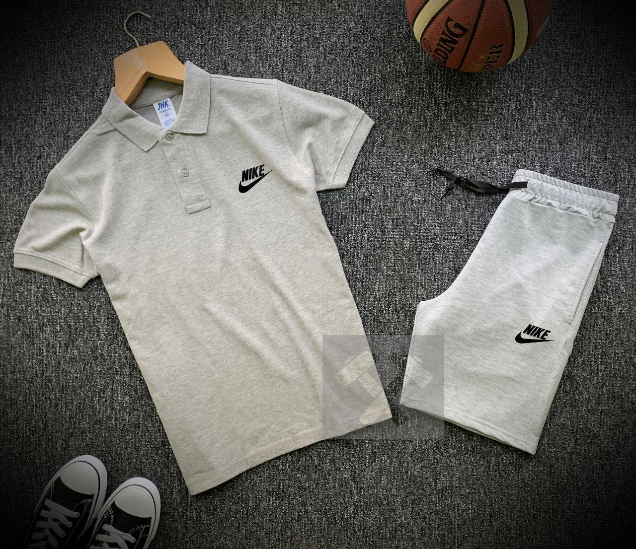 Мужской комплект футболка - поло с шортами