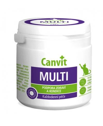 КАНВІТ МУЛЬТИ КЕТ Canvit Multi for cats вітамінно-мінеральний комплекс для котів таблетки, 100 таб