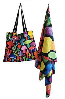 Набор Emmer Musrooms пляжное полотенце и сумка