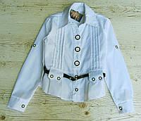 Р.128-158 Детская школьная блузка. Хлопок., фото 1