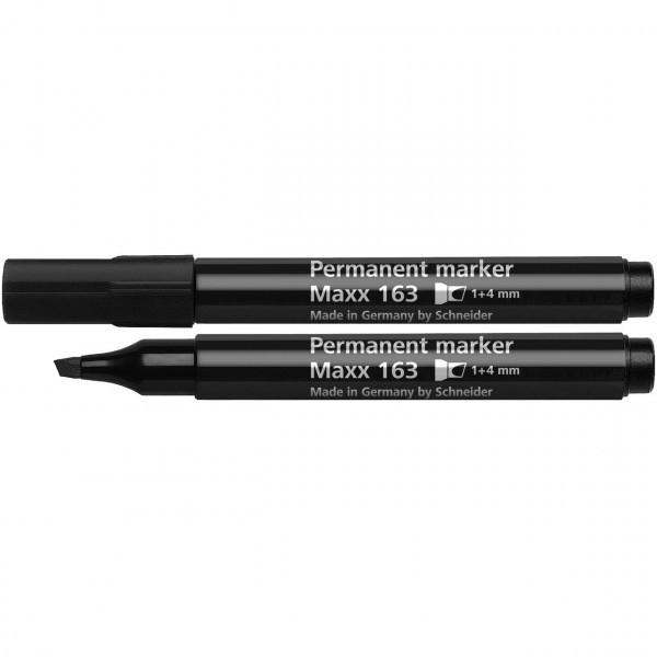 Маркер перманентный (спиртовой) SCHNEIDER MAXX 163 1-4 мм, черный  (S116301) SCHNEIDER  (S116301)