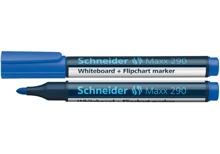Маркер для досок и флипчартов SCHNEIDER MAXX 290 2-3 мм, синий, S129003 SCHNEIDER  (72039309)