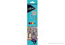 Карандаши цветные пластиковые ″Africa″, 6 цветов economix (102777990)