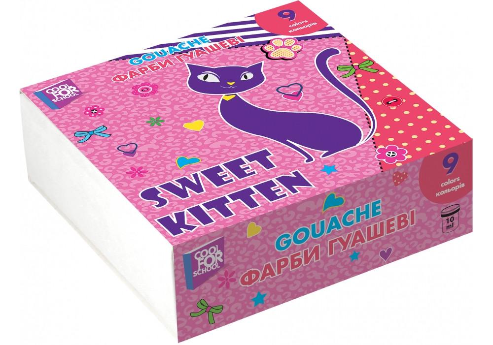 Краска гуашевая Sweet Kitten, 9 цветов cool for school  (18985547)