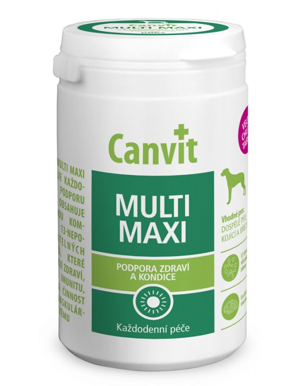 КАНВІТ МУЛЬТИ ДОГ МАКСИ Canvit Multi Maxi for dogs  вітам-мін комплекс для собак, 76 таб