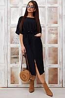Стильне чорне жіноче плаття  / Женское платье черного цвета, платья женские летние, платье модное стильное