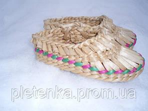 Лапти плетенные из рогозы (детские размеры)