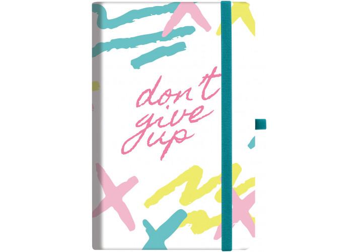 Деловая записная книжка ″dont_give_up″ с резинкой (O20812-23) Optima  (20812-23)