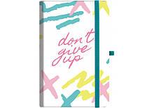 """Ділова записна книжка """"dont_give_up"""" з гумкою (O20812-23) Optima (20812-23)"""