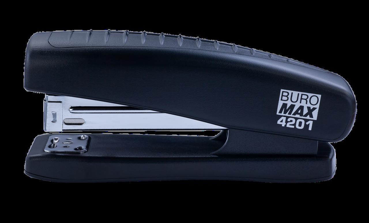Степлер пластиковий, 20 л., (скоби №24; 26), чорний BM.4201-01 buromax (BM.4201-01)