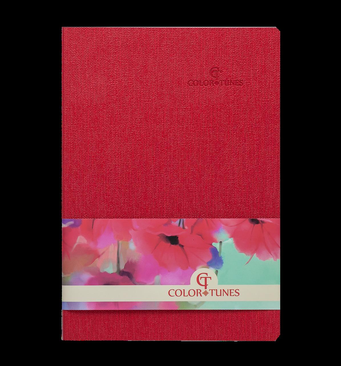 Блокнот деловой COLOR TUNES, А5, 96 л., клетка, красный, иск.кожа ( BM.295100-05) buromax  ( BM.295100-05)