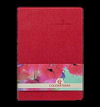 Блокнот ділової COLOR TUNES, А5, 96 л., клітина, червоний, позов.шкіра ( BM.295100-05) buromax ( BM.295100-05)
