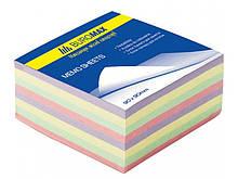 Блок паперу для нотаток проклеєний Buromax 90х90х40мм асорті кольорів BM.2284 buromax