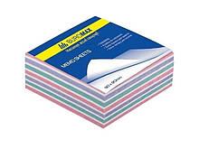 """Блок паперу для нотаток """"ЗЕБРА"""" Buromax, 90х90х40мм, склеєний 500л. (BM.2264) buromax (180905474)"""