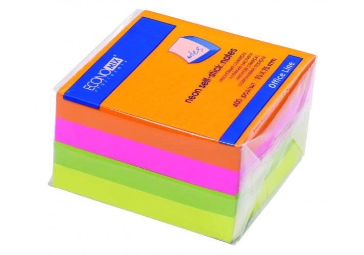 Стикеры Economix, 75х75, 4 цвета, 400л. (20949) economix  (2662162)