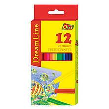 Олівці кольорові двосторонні Olli DreamLine (411-12С) 12карандашей 24 кольору Olli (411-12С)