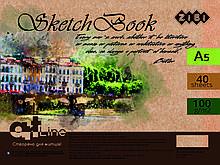 Скетчбук А5, 40 листов, пружина, белый блок 100 г/м2 ( ZB.1492) ZIBI  (ZB.1492)