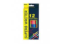 Олівці кольорові Marco Superb Writer 24 кольору двосторонні (4110-12CB) MARCO (3582368)