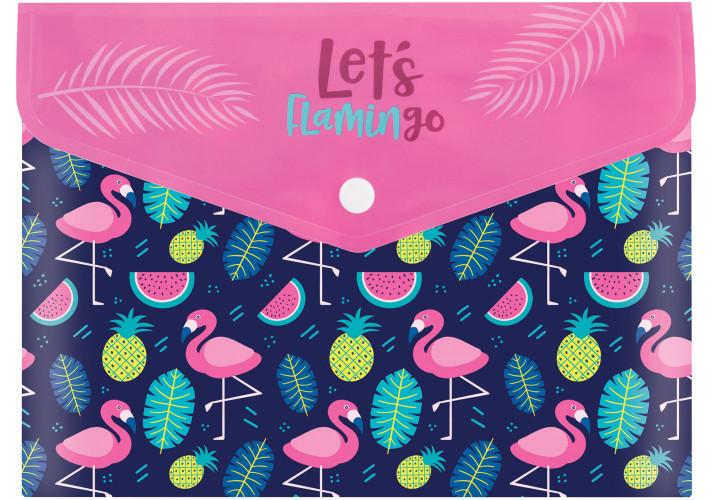 Папка-конверт А5 на кнопке ″Flamingo″, 180 мкм (CF32013-09) cool for school  (CF32013-09)