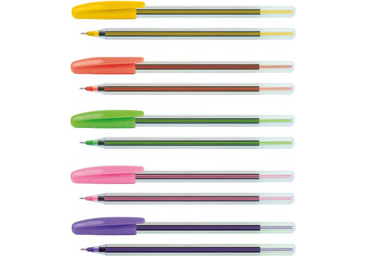 Ручка масляна ECONOMIX COLIBRI 0,7 мм, пише синім ( (E10237)