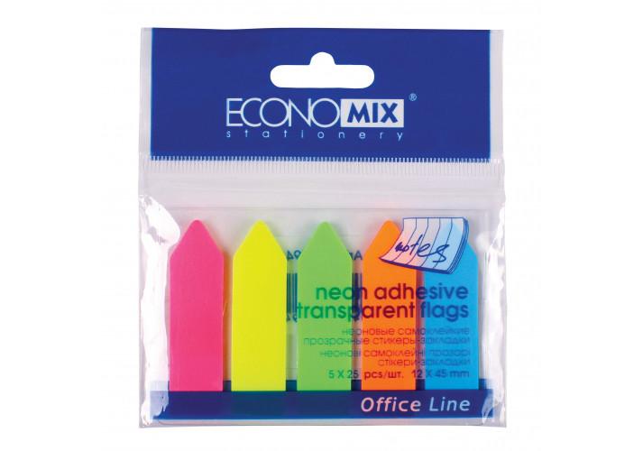 Стикеры-закладки ″Стрелки″ Economix, 12х45, пластиковые (E20946) economix  (E20946)