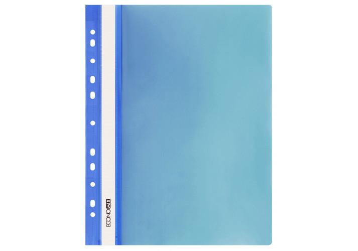 Папка-швидкозшивач глянцеві А4 з перфорацією синя (упаковка 10шт) E31510-02 economix ( E31510-02)