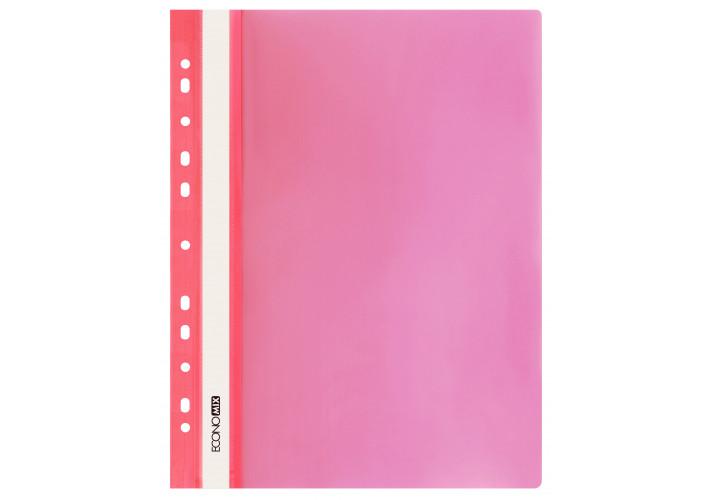 Папка-скоросшиватель глянцевые А4 с перфорацией красная  (упаковка 10шт)  (E31510-03) economix  (E31510-03)