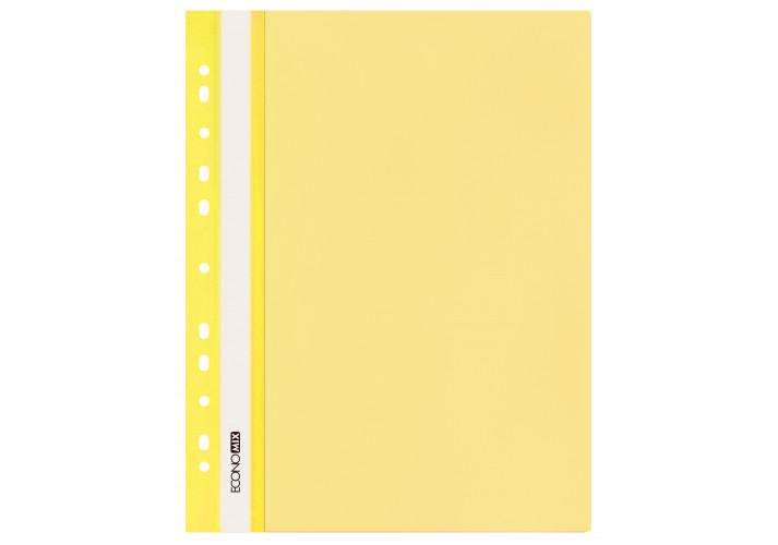 Папка-скоросшиватель глянцевые А4 с перфорацией, желтая (упаковка 10шт)  E31510-05 economix  (E31510-05)