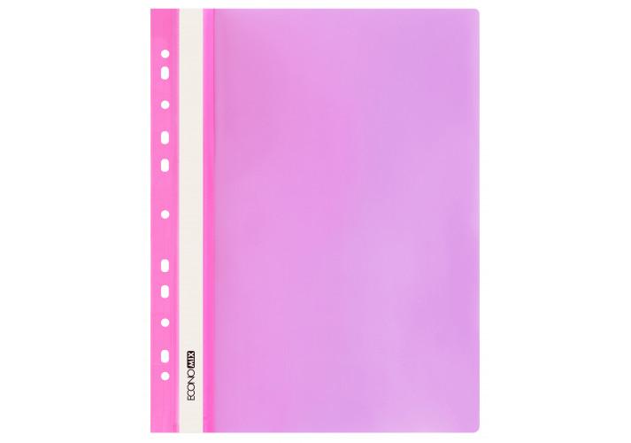Папка-скоросшиватель глянцевые А4 с перфорацией,  розовая (упаковка 10шт)  E31510-09 economix  (E31510-09)