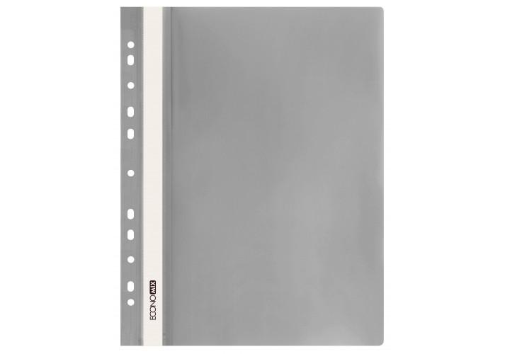 Папка-скоросшиватель глянцевые А4 с перфорацией,  серая (упаковка 10шт)  E31510-10 economix  (E31510-10)