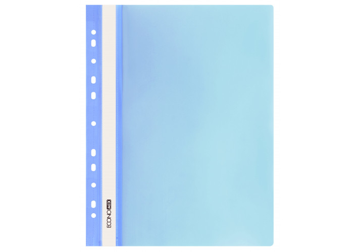 Папка-швидкозшивач глянцеві А4 з перфорацією, блакитний (упаковка 10шт) E31510-11 economix (E31510-11)