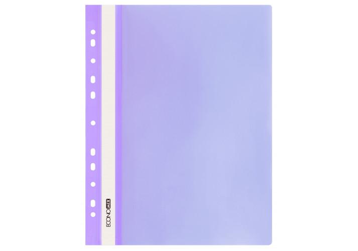 Папка-швидкозшивач глянцеві А4 з перфорацією, фолетовый (упаковка 10шт) E31510-12 economix (E31510-12)