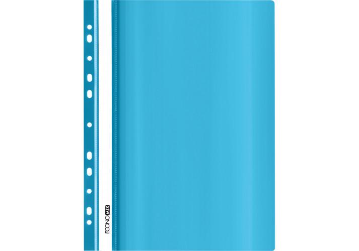 Папка-скоросшиватель глянцевые А4 с перфорацией,  бирюзовая (упаковка 10шт)  E31510-21 economix  (E31510-21)