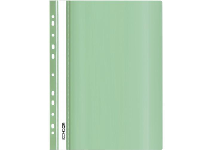 Папка-швидкозшивач глянцеві А4 з перфорацією, м'яка (упаковка 10шт) E31510-84 economix (E31510-84)