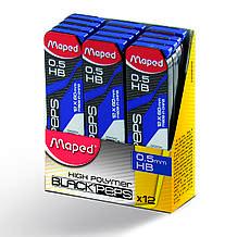 Стержни к мехнического карандаша (12шт) HB 0.5мм Maped (MP.559630) MAPED  (38417264)