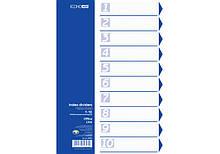 Разделитель пластиковый , А4, Economix, цветной, 10 разделов (E30803) economix  (E30803)