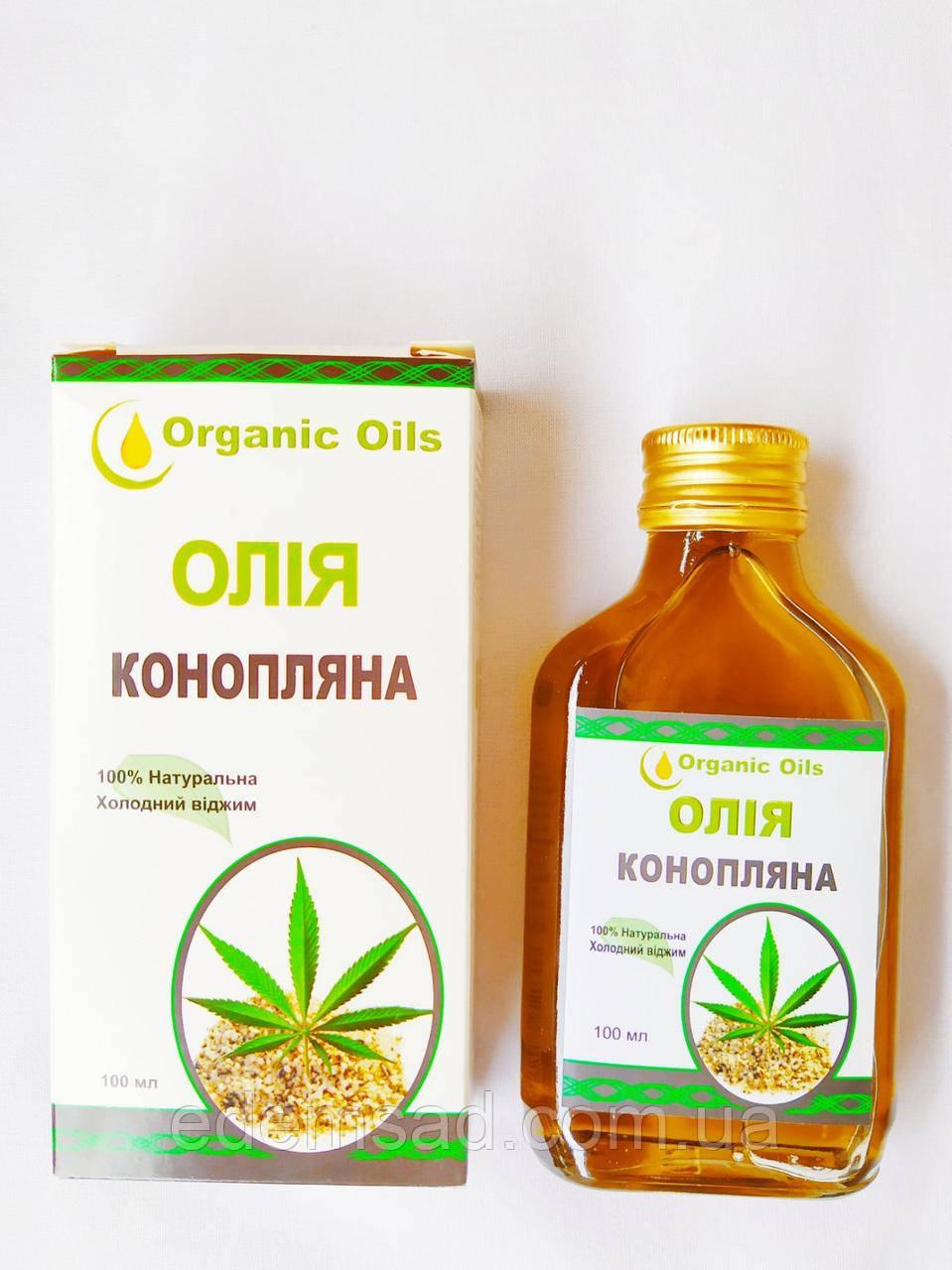 Олія конопляна Organic Oils, 100 мл