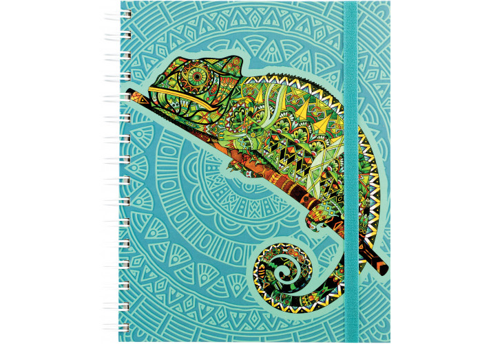 Блокнот ″Sambala″ на резинке, A5 (175х206мм) , спираль, 150 л, клетка (20849-04) Optima  (20849-04)