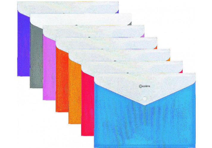Папка-конверт А4 Optima, (с расширением дна на 20 мм) 180 мкм, , ассорти (31315-99)