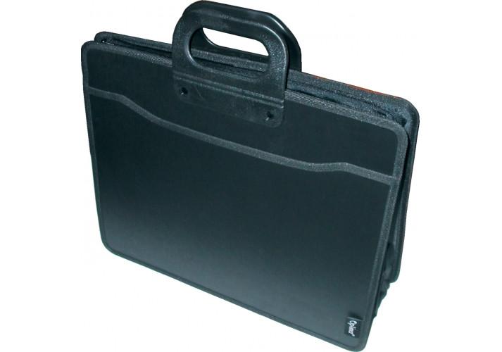 Портфель В4 на 3 відділення, чорний (О31650) Optima (31650)