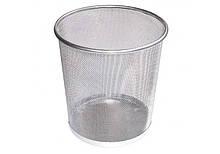 Корзина для мусора  10л металлическая серебряная (36310-10) Optima  (36310-10)