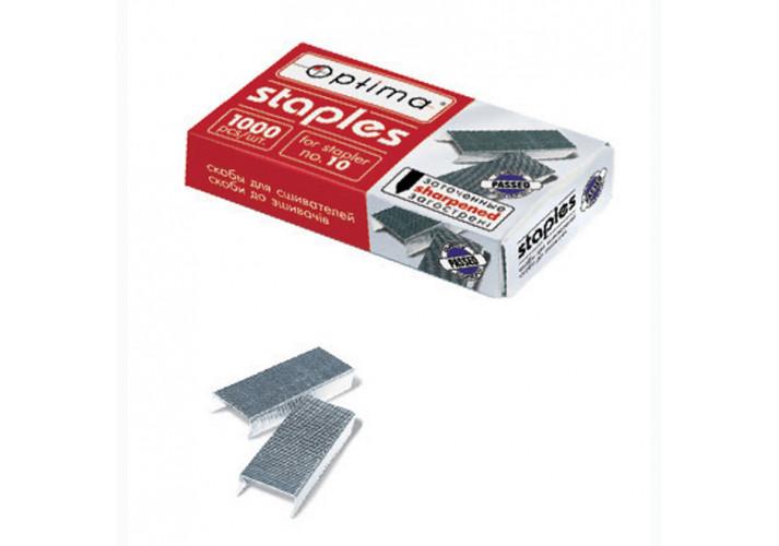 Скобы для степлера  Optima, №10, 1000 шт, заостренные (40355) Optima  (40355)