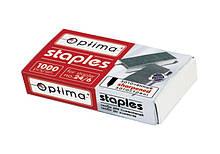 Скобы для степлера  Optima, №24, 1000 шт, заостренные (40356) Optima  (40356)