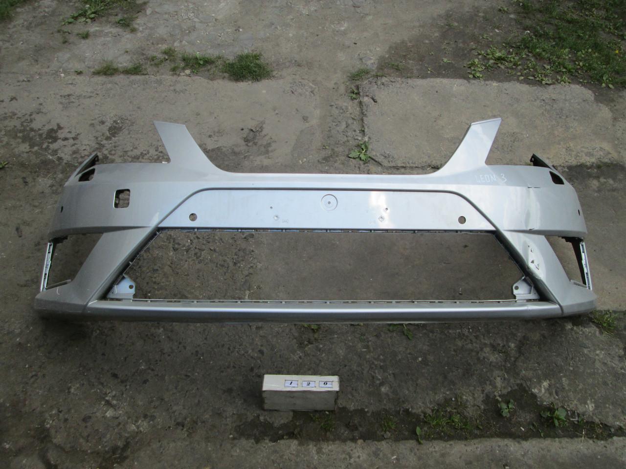 №120 Б/у  бампер передний для 5F0807221M для SEAT LEON III 2012–2020(дифект)